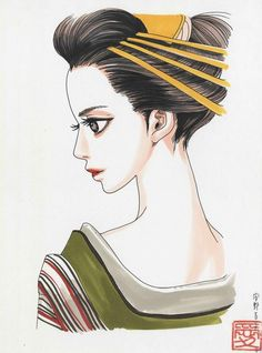 Anno Moyoco Manhwa Manga, Anime Manga, Manga Illustration, Illustrations, Manga Artist, Visual Kei, Anime Comics, Asian Art, Japanese Art