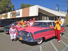 Send in the Sacramento Clowns ... and a PINK 1956 Nash Ambassador ... at Pancake Circus !!!