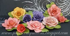 "Cut Files, templates, and video links for Handmade Paper Flower: ""Open rose"". $10.00, via Etsy."