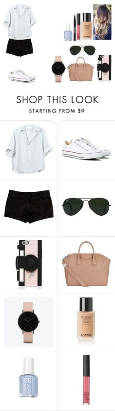 """""""Untitled #504"""" by kalieh092 on Polyvore featuring Converse, L'Agence, Ray-Ban, Kate Spade, Givenchy, CLUSE, NARS Cosmetics and Trish McEvoy"""