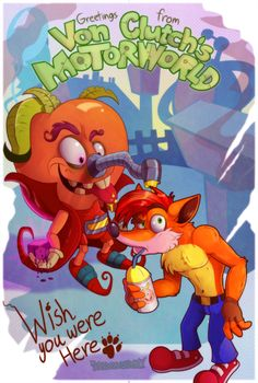 Crash Bandicoot- It's a Small Motorworld After All by Turquoisephoenix ,'