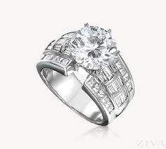 Large Semi-Mount with Wide Princess Cut