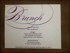 Post Wedding Brunch Invitations Wording