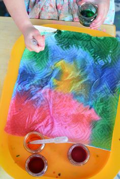 Tie Dyed Paper Towel Art