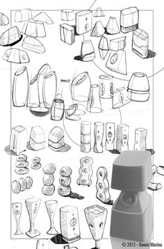 Design sketch: Form study on Speakers.