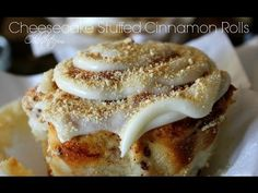 """""""CHEESECAKE STUFFED CINNAMON ROLLS""""                                                       I should NOT have pinned this to save, but I couldn't resist. :-D"""