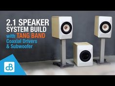 Stereo Speaker & Subwoofer System BUILD with Tang Band Coaxial - by SoundBlab Speaker Wire, Stereo Speakers, Finishing Sander, Dayton Audio, Plunge Router, Voltage Converter, Powered Subwoofer, New Drivers