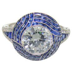 1stdibs - Handmade Platinum, Diamond & Sapphire Ring explore items from 1,700  global dealers at 1stdibs.com