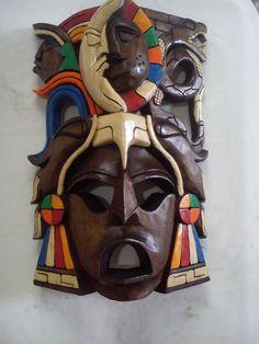 Máscaras maya de madera