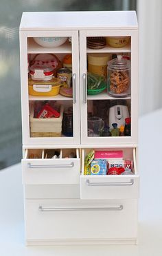 Miniatures. Re-ment white cabinet | Flickr - Photo Sharing!