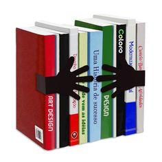 Suporte Aparador De Livros Dvd Cd Decorativo Abraço - InstantBox -12 x 10 x 16 cm (peças) - 12 x 5 x 11 cm (imã abraço) - R$ 36,90