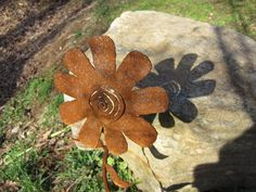 Handmade Metal Garden Flower Yard Art by theshack on Etsy, $30.00
