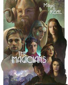 "ArtStation - ""The Magicians"" Fan Art Poster Design, David MacLeod Fantasy Shows, Sci Fi Fantasy, Magician Art, The Magicians Syfy, Roman, Harry Potter, Cinema, Fanart, Tv Couples"