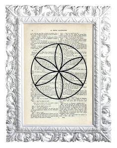 Flor de la vida 2. Print sobre papel por lapetiteillustration