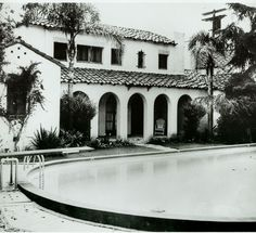 Historic Photograph of Garden Of Allah Hotel In West Hollywood