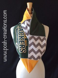Green Bay Packers Infinity Scarf by poshCreationsCincy on Etsy