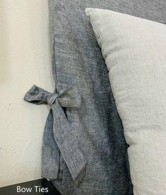 Headboard Slipcover Natural Linen Custom Made Linen Headboard | Etsy Headboard Cover, Linen Headboard, Linen Bedding, Oxygen Bleach, Shower Curtain Rods, Linen Sheets, Bed Sizes, Fabric Swatches, Natural Linen