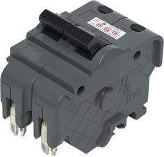 Federal Pacific - Thick 20 AMP 2 in. Double-Pole Type F UBI Replacement Circuit Breaker - Use in applications up to Watts. copper with ground wire. Type F for use in Federal Pacific load centers. Connecticut, Circuit, Clamshell Packaging, New Challenger, Gadget World, The Breakers, Sub Brands, General Electric, Electrical Equipment