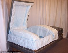SMH! King size: Indiana-based Goliath Caskets has found its niche product - a giant coffin that is a staggering 4ft-wide and 8ft-long - steadily become more in demand