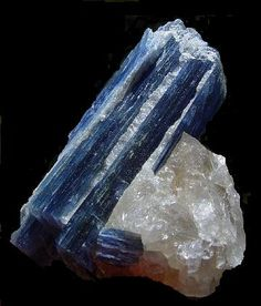 Kyanite from North Carolina.  (Why do we hunt the kyanite in Nepal when the US has its own super-blue kyanite?  Maybe it's too included?.)