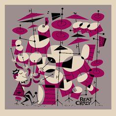 Los dibujos a ritmo de rockabilly y jazz de Derek Yaniger