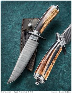 It's time again to kick off our annual Bowie festival here on the forums, so I. Cool Knives, Knives And Tools, Knives And Swords, Damascus Blade, Damascus Steel, Hand Forged Knife, Knife Art, Swords And Daggers, Knife Handles