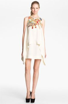camilla and marc 'Adorned' Jewel Print Draped Dress available at #Nordstrom