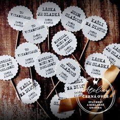 Svatební zápichy a cedulky Dream Wedding, Wedding Day, Sweet Bar, Birthday Balloons, Plant Decor, Party Themes, Wedding Planner, Wedding Decorations, Wedding Inspiration