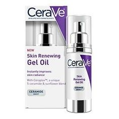 CeraVe Skin Renewing Gel Oil to Improve Skin Radiance Product Technology Mascara, Cleanser For Combination Skin, Good Skin, Skin Care Tips, Healthy Skin, Beauty Tips, Beauty Products, Styling Products, Skin Products