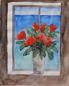 Floral Bouquet on Window Sill