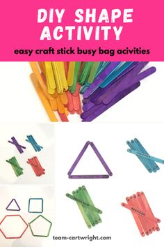 At Home DIY Shape Activity - Cute and Easy Learning