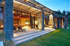 queenstown modern stone house - Google Search