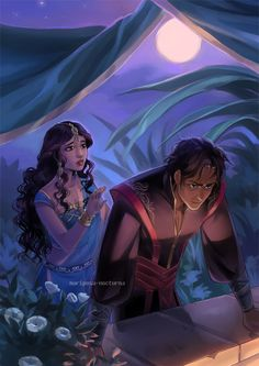 commission: Abyssiana and Kaveh by mariposa-nocturna.deviantart.com on @deviantART
