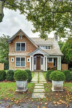 East Hampton Shingle Cottage with Coastal Interiors