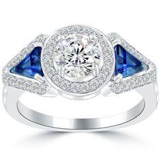 2.13 Carat D-SI2 Natural Round Diamond Engagement Ring 14k Gold Vintage Style - Vintage Diamond Rings - Rings