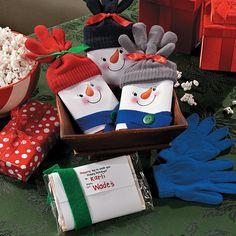 Snowman Popcorn Christmas Gift Iea - OrientalTrading.com