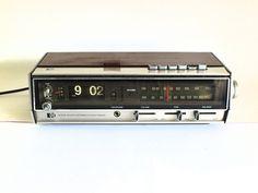 PYE Flip Clock Radio - Model Dcr 6 Stereo - 70s AM FM Radio - Classic Hi Fi - Working! by FunkyKoala on Etsy