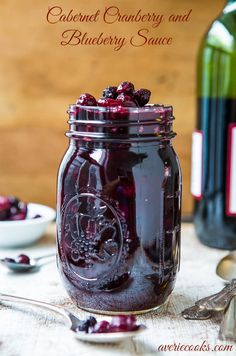 Dressing: Cabernet Cranberry and Blueberry Sauce