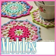 Mis Pasatiempos  Amo el Crochet: Posa taza en ganchillo