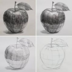 drawings Apples during the basic course . - -Jolly drawings Apples during the basic course . - - 21 Light Shadow Object Pencil Drawing Ideas 61 Ideas for fruit drawing pencil sketches The 26 Cup Pencil Drawing Ideas اسكندريه ليه ( Shading Drawing, Contour Drawing, Basic Drawing, Drawing Skills, Painting & Drawing, Basic Sketching, Art Drawings Sketches Simple, Pencil Art Drawings, Drawing Ideas