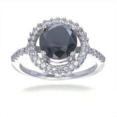 https://ariani-shop.com/14k-white-gold-black-diamond-engagement-ring-350-ct-in-size-7 14K White Gold Black diamond Engagement Ring (3.50 CT) In Size 7