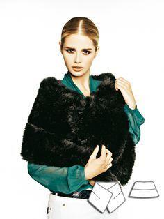 Faux Fur Stole 12/2011 #burdastyle #sewingpattern #diy #fauxfur