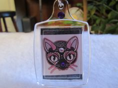 Cat Sugar skull Keychain Sugar Skull Cat Purse by FoxHuffDesigns