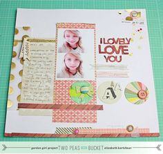NO WONDER I was smitten by this layout...It is from Elizabeth Kartchner (Dear Lizzy)...so nice to see some of her current layouts.