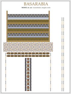 Semne Cusute: iie din BASARABIA - model (20) Embroidery Sampler, Folk Embroidery, Embroidery Patterns, Cross Stitch Patterns, Knitting Patterns, Hama Beads, Beading Patterns, Pixel Art, Quilts