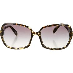 Pre-owned Oliver Peoples Sunglasses ($85) ❤ liked on Polyvore featuring accessories, eyewear, sunglasses, brown, tortoise glasses, brown glasses, brown tortoise shell glasses, oliver peoples y tortoiseshell sunglasses