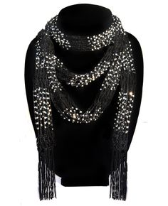 "Jewelry Scarf....80"" in length with endless styling possibilities. Use as Belt, Scarf, Necklace or awesome hair accessory!"