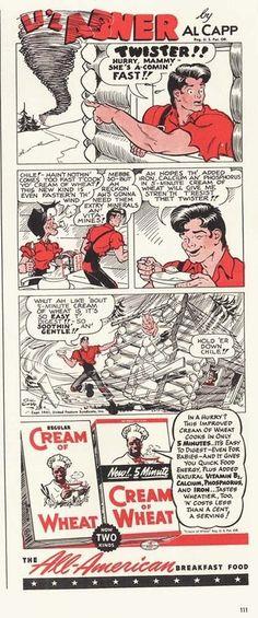 1941 AD Cream of Wheat Li'l Abner comic- Twister-Al Capp art