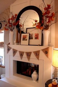 Mantel  Decorations : IDEAS  INSPIRATIONS :Exciting Fall Mantel Decor Ideas