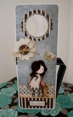 Door hanger tag ((Gorjuss, )) Handmade Crafts, Diy And Crafts, Door Signage, Decoupage, Santoro London, Doorknob Hangers, Paint Cards, 3d Cards, Artist Trading Cards